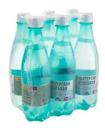 Вода минеральная Новотерская целебная газированная пластик 0.5 л 6 штук в упаковке