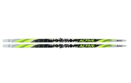 Беговые лыжи STC Step 75 2018, black/yellow, 160 см