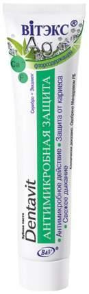 Зубная паста Витэкс фторосодержащая Серебро и эвкалипт Антимикробная защита 160 г