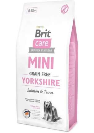 Сухой корм для собак Brit Care Mini Grain Free Yorkshire, йоркширский терьер, лосось, 7кг