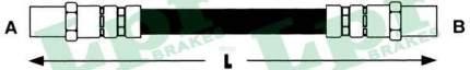 Шланг тормозной системы Lpr 6T46564 задний