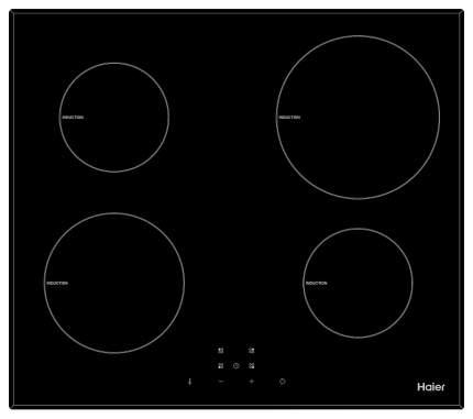 Встраиваемая варочная панель индукционная Haier HHX-Y64NVB Black