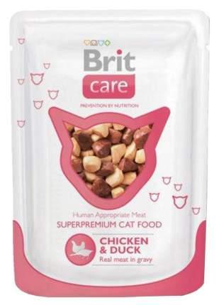 Влажный корм для кошек Brit Care, курица, утка, 24шт, 80г