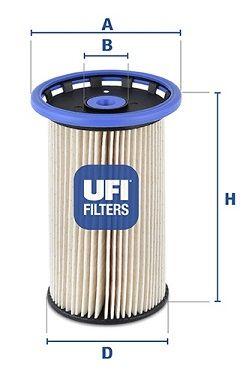 Фильтр топливный UFI 26.026.00