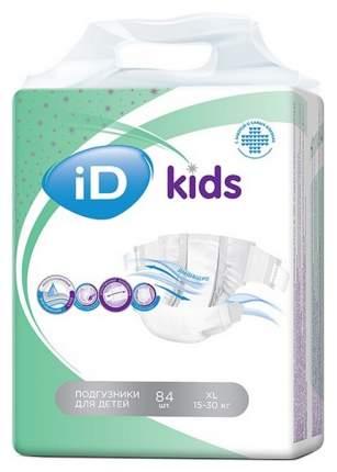 Подгузники iD NEW Детские Kids XL (15-30кг) 84шт/2