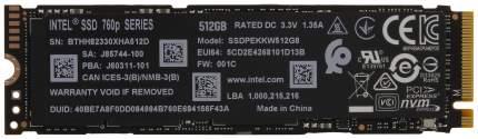 Внутренний SSD накопитель Intel 760P 512GB (SSDPEKKW512G8XT)