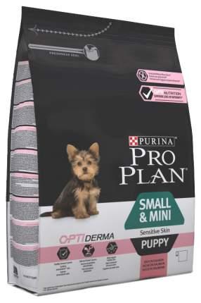 Сухой корм для щенков PRO PLAN OptiDerma Small & Mini Puppy, для мелких пород, лосось, 3кг