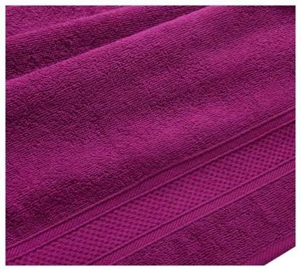 Полотенце махровое с бордюром (яркая фуксия) 40х70