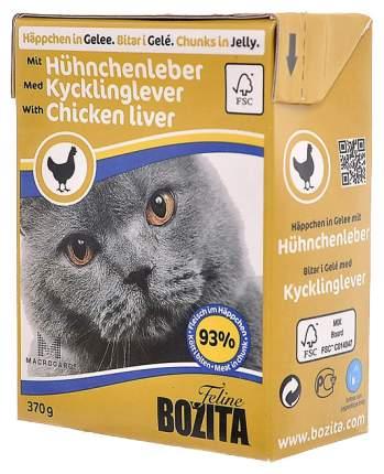 Влажный корм для кошек Bozita in Jelly with Chicken Liver, 370 г