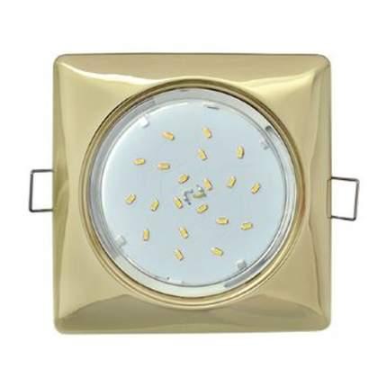 Ecola Gx53-H4 Квадрат Светильник Встраиваемый Золото 41X107 Fg53S4Ecb