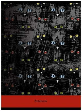 """Тетрадь для конспектов  """"Графит, Кошки"""" А4, 96 листов, в клетку"""