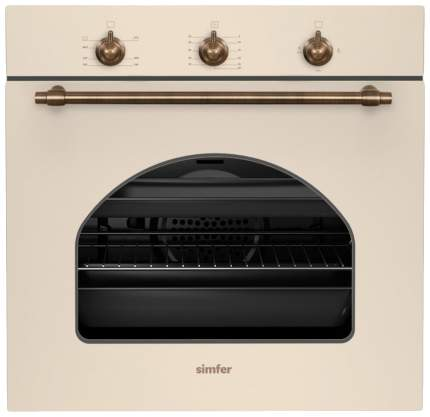 Встраиваемый газовый духовой шкаф Simfer B6GO12017 Beige