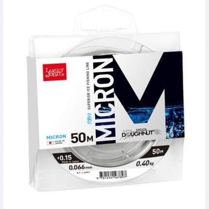 Леска монофильная Lucky John Micron 50 м прозрачная 0,108 мм