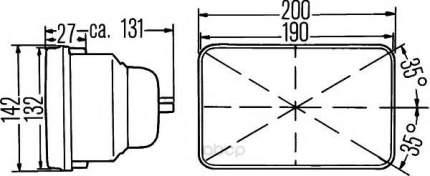 Вставка фары, основная фара 12v Hella 1AE003427-011