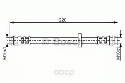 Шланг тормозной системы Bosch 1987476633 задний