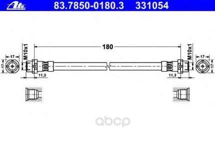 Шланг тормозной системы ATE 83785001803