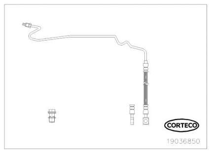 Шланг тормозной CORTECO 19036850