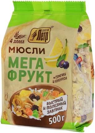 Мюсли Золотой Петр мегафрукт 4 злака 500 г