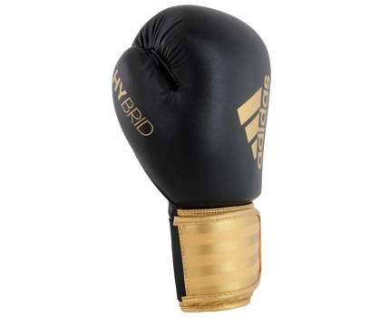 Боксерские перчатки Adidas Hybrid 100 черные/золотые 12 унций
