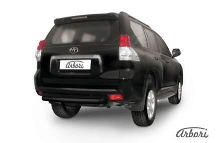 Защита заднего бампера d76 Arbori черный для Toyota LC Prado 2010-2013