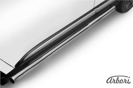 Защита порогов d57 труба Arbori нерж. сталь для Mitsubishi OUTLANDER 2015-нв