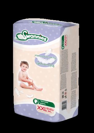 Подгузники-трусики Swannies 15-28 кг XXL, (44/4)
