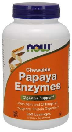 Для пищеварения NOW Papaya Enzymes папайя мята жевательные таблетки 360 шт.