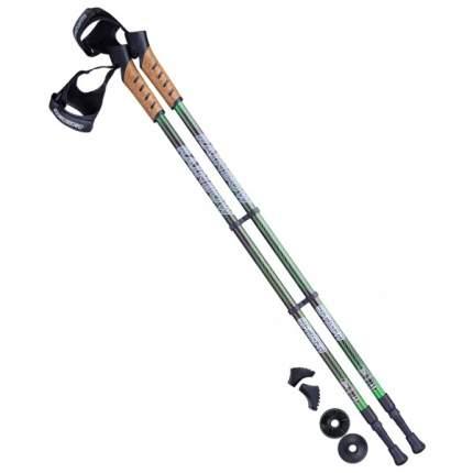 Палки для скандинавской ходьбы Berger Rainbow, 77-135 см, черный/ярко-зеленый