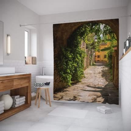 Штора для ванной JoyArty «Тихий переулок» 180x200