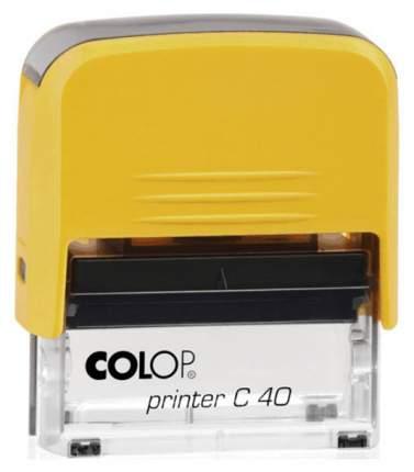 Оснастка для печати Colop C40 Compact Transparent. Цвет корпуса: желтый.