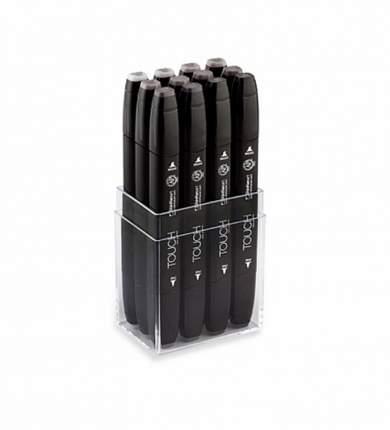 Набор двухсторонних маркеров для скетчей Touch Twin 12шт теплые серые цвета