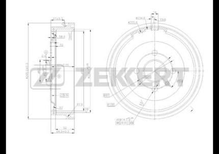 Тормозной барабан ZEKKERT BS-5170