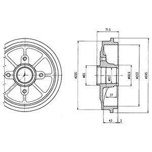 Тормозной барабан DELPHI BF484