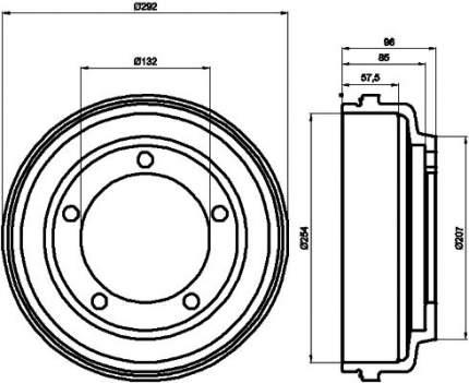 Тормозной барабан MINTEX MBD058