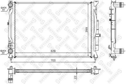 Радиатор охлаждения двигателя STELLOX 10-25288-SX
