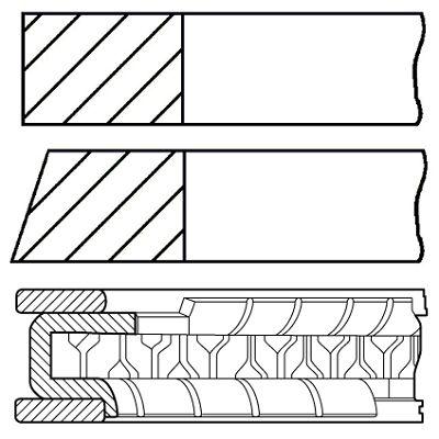 Комплект поршневых колец GOETZE ENGINE 08-427600-10