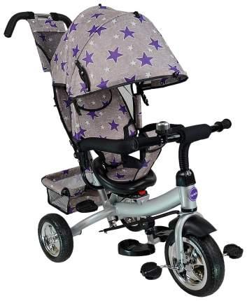 Велосипед трехколесный Farfello TSTX6588 серый с фиолетовыми звездами