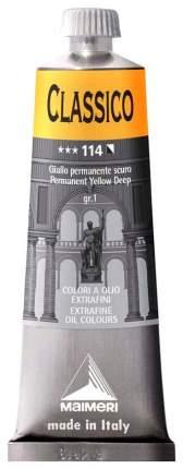 Масляная краска Maimeri Classico желтый прочный темный 60 мл