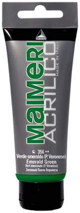 Акриловая краска Maimeri Acrilico M0924356 изумрудный 200 мл