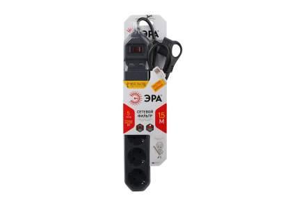 Сетевой фильтр ERA USF-5es-1,5m-USB-B Черный