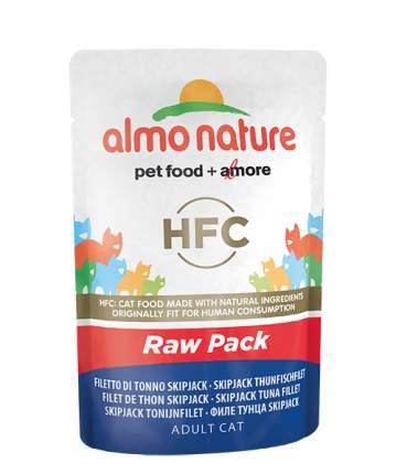 Влажный корм для кошек Almo Nature HFC Raw Pack, филе полосатого тунца, 55г