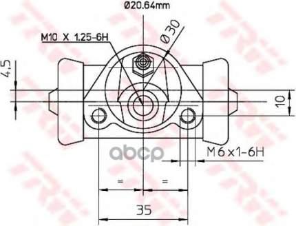 Тормозной цилиндр TRW/Lucas BWF150