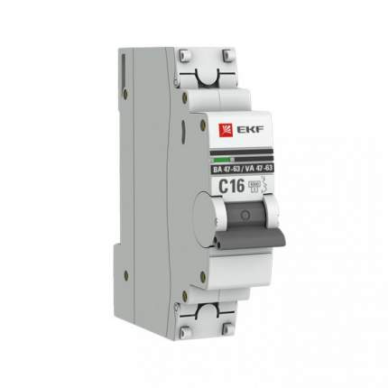Автоматический выключатель EKF mcb4763-6-1-16B-pro