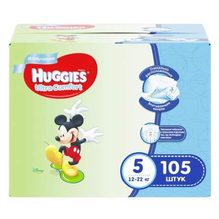 Подгузники Huggies Ultra Comfort для мальчиков 5 (12-22 кг), Disney Box, 105 шт.