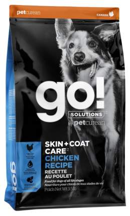 Сухой корм для собак GO! Skin + Coat Care Chicken Recipe, курица, фрукты, овощи 11,35кг