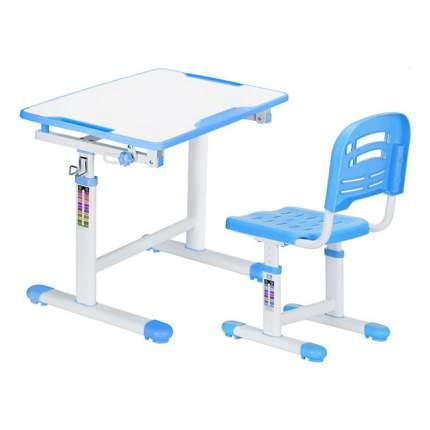 Комплект парта и стул Mealux EVO-07 белый, голубой,