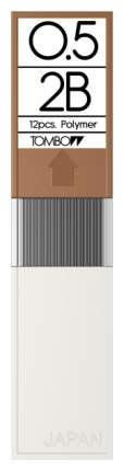 """Грифели для механических карандашей Tombow """"Mono"""", 0,5 мм, 2B, 12 штук"""