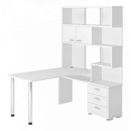 Компьютерный стол Мэрдэс Домино СР-420/150 MER_SR-420_150_BE-PRAV, белый жемчуг