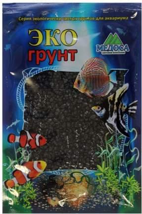 Грунт для аквариума ЭКОГРУНТ  Цветная мраморная крошка черная блестящая 2 - 5 мм 1кг