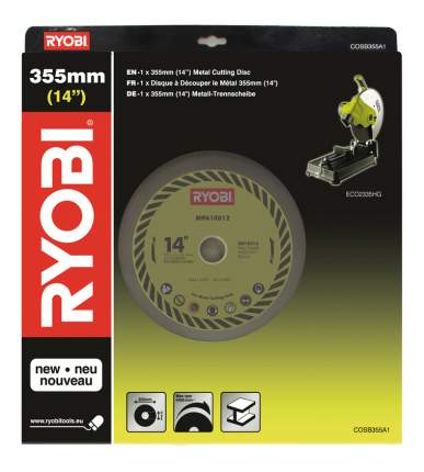 Диск по металлу для дисковых пил Ryobi COSB355A1 355mm ChopSaw Disc EMEA